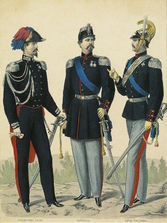 Uniforms of Royal Carabinieri, Infantry, Savoy Cavalry