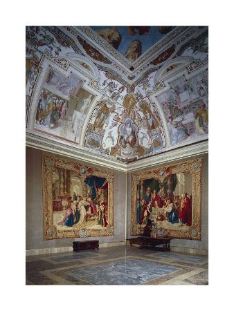 View of an Hall, Lateran Palace, Italy, Lazio Region, Rome