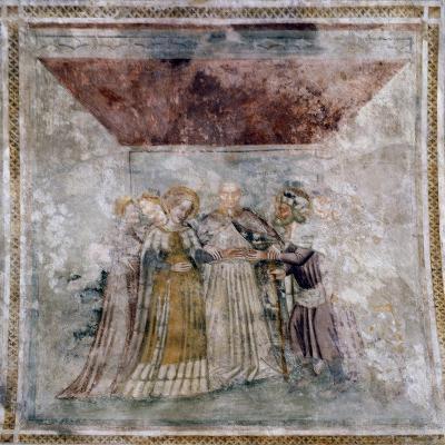 Fresco, Church of Santa Maria Dei Battuti, Valeriano, Friuli-Venezia Giulia, Italy