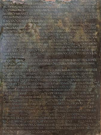 Inscription of Speech of Claudius Advocating Admission of Gauls to Senate
