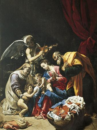 Italy, Rome, Painting of Holy Family