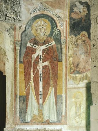 Fresco, Basilica of San Nicola Di Bari, Apulia, Italy, 12th Century