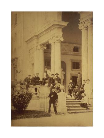 France, Saint-Germain-En-Laye, Claude Achille Debussy with Friends at Villa Medici