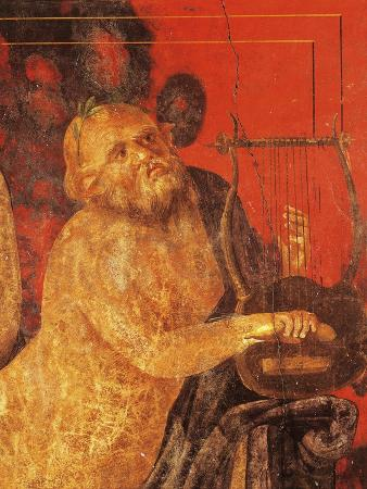 Silenus Playing Lyre from Villa of Mysteries, Pompeii, Campania