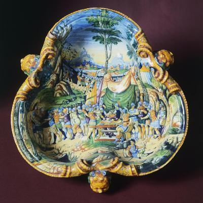 Trilobate Bowl with Scene from Stories of Hannibal, Ca 1560-1570