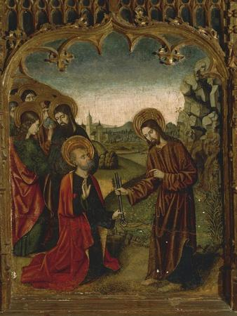 Christ Handing over Keys to St Peter, 16th Century, Right Chapel Altarpiece