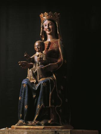 Madonna of Canneto, 1200, Wooden Statue from Church of Santa Maria of Canneto