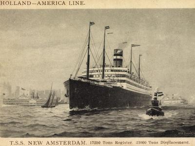 Künstler Pansing, Hapag,T.S.S. New Amsterdam, Dampfer