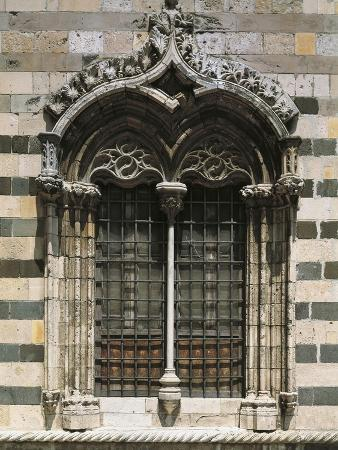 Mullioned Window, Messina Cathedral, Sicily, Italy