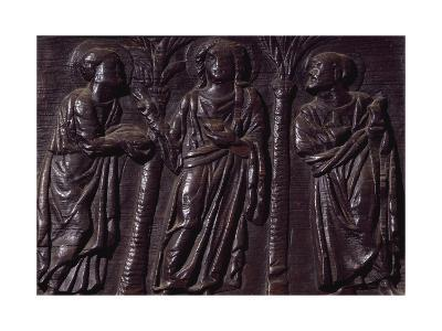 Panel from Wooden Door of Basilica of St Sabine, Rome, Italy, 5th Century