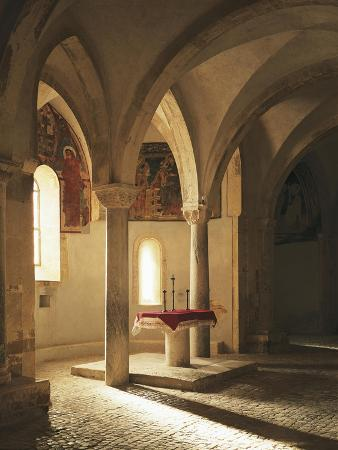 Crypt of Abbey of St John in Venus, Fossacesia, Italy, 12th Century