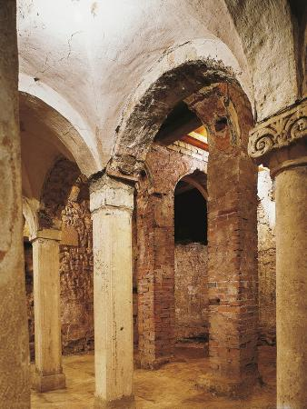 Romanesque Crypt in San Salvatore Church, Brescia, Italy, 8th-16th Century