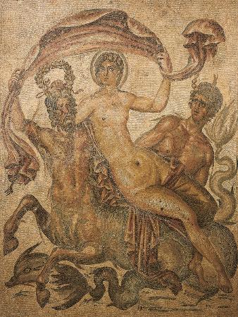 Algeria, Timgad, Mosaic Work Depicting Venus Riding a Centaur