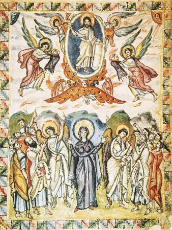 Christ's Ascension, Miniature from the Rabula Gospels, Syria 6th Century