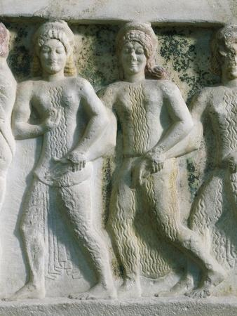 Detail of Relief Depicting Female Dancers