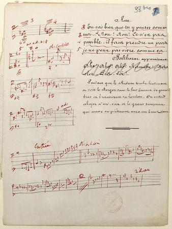 France, Paris, Score Manuscript of L'Arlesienne, 1872