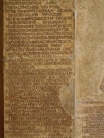 Inscribed Annals Fasti Consulares Et Triumphales