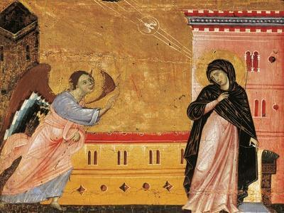 Annunciation, Detail from Antependium of St Peter Enthroned by Guido Da Siena