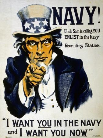 Uncle Sam Is Calling You - Enlist in the Navy!, 1916