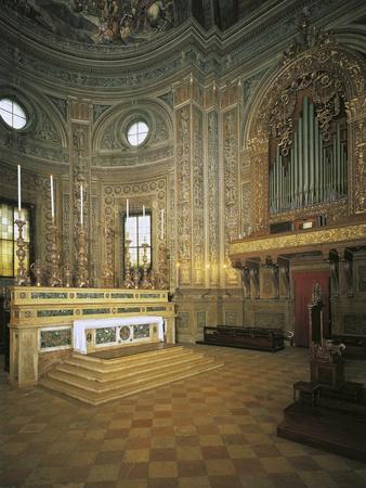 Altar and Serassi Organ. Basilica of St Andrew
