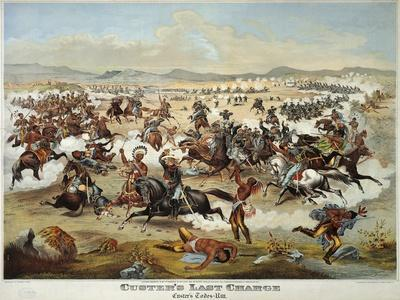 General Custer's Last Stand at the Battle of Little Bighorn, June 25, 1876