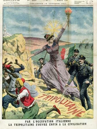 Allegory of the Italian Occupation of Libya, from 'Le Petit Journal', 15th October 1911