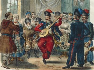 Peasant Festival, Ukraine, 1841, Russia 19th Century