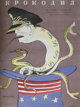Caricature of Tito as the Servant of the Usa