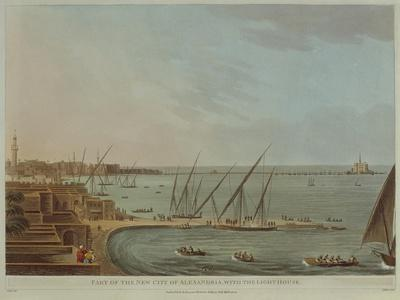 View of Alexandria with Lighthouse, from Views of Egypt by Luigi Mayer, 1802