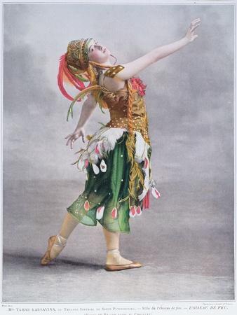 Tamar Karsavina as L'Oiseau De Feu in the Russian Ballet, 1911