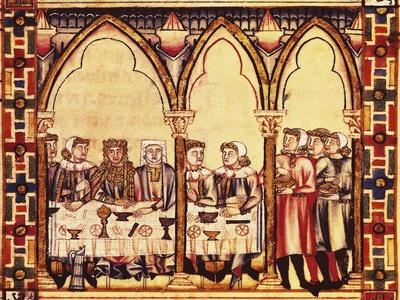 Scenes of Life at Court, Miniature from the Cantigas De Santa Maria Alfonso X the Wise, Manuscript