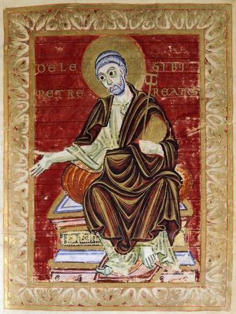 Saint Peter Receives the Psalter