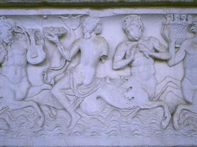 Close Up of Sarcophagus with Retinue of Sea-Deities A.D.