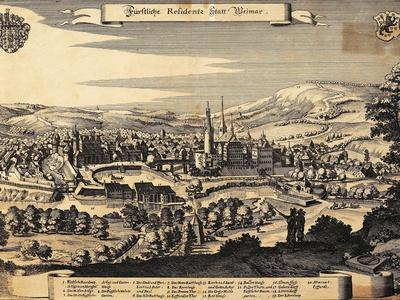 Germany, Weimar, View of the City, 1650