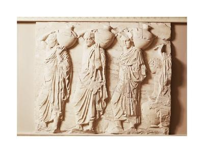 Pentelic Marble North Cornice of the Parthenon by Phidias, Relief Depicting Water Bearers