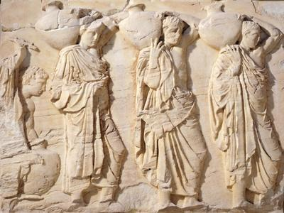 Greece, Athens, the Acropolis of Athens, Parthenon, Relief with Carriers of Hydriae