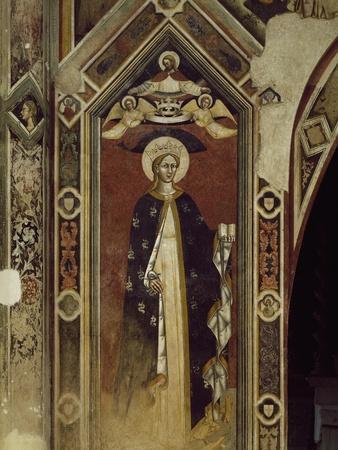 Saint, Detail of Fresco, Basilica of Santa Caterina D'Alessandria, Galatina, Apulia, Italy