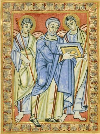 Miniature from the Poussay Gospels, Manuscript 10th Century