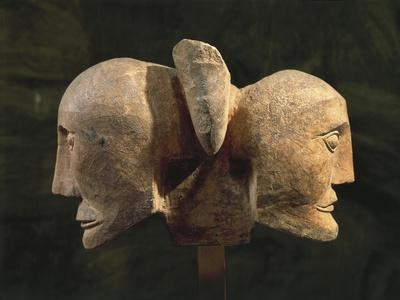 Limestone Opposed Heads, from Roquepertuse