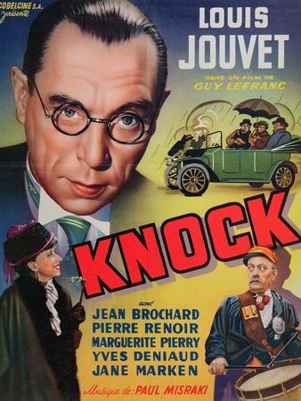 Poster Advertising the Film 'Knock' Starring Louis Jouvet, C.1940