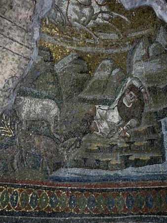 The Abduction of Elijah, Mosaic Detail
