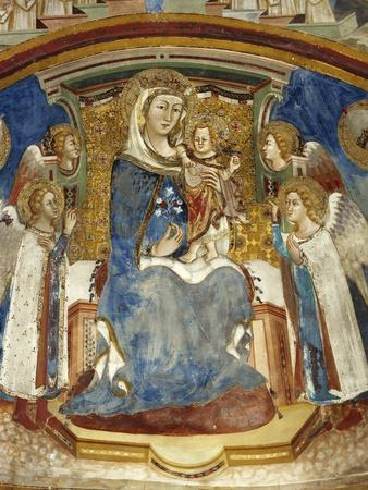 Enthroned Madonna and Child with Angels