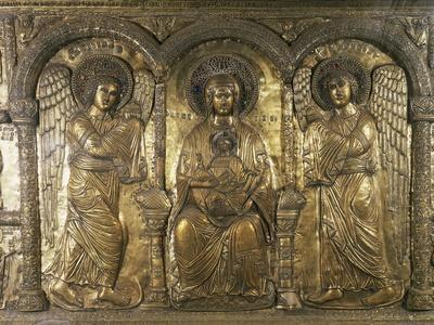 Madonna and Child with Archangels Michael and Gabriel