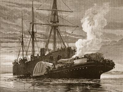 Collision of the 'Bywell Castle' with the 'Princess Alice'