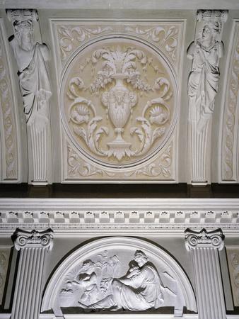 Detail of Interior Stucco Decoration of Villa Durazzo Gropallo or Villa Zerbino