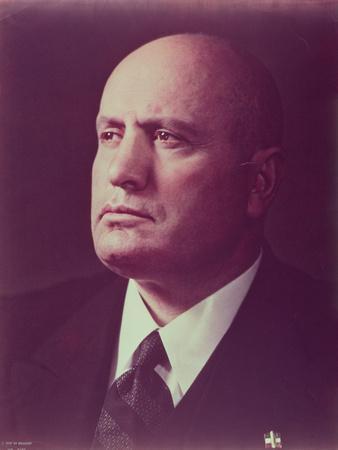 Poster Portrait of Benito Mussolini