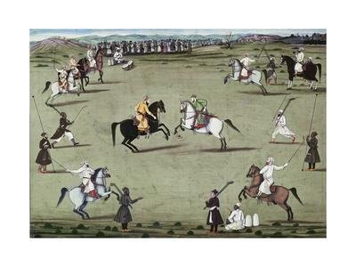 Game of Polo at Court in the Mughal Empire, India