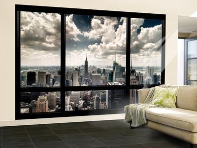 View of Manhattan, New York from Window