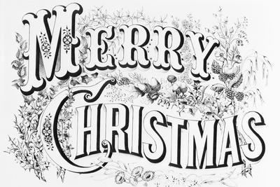 Poster Saying Merry Christmas