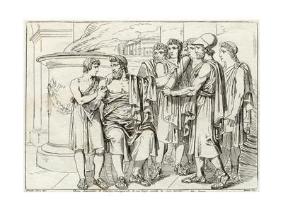 Lycurgus Passing on Laws